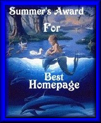 Summer's award for best homepage