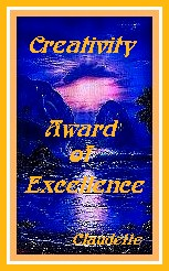 Claudette's creativity award of excellence